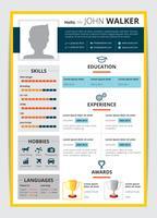 Modelo de currículo de candidato a emprego