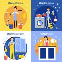Conceito de pessoas de limpeza