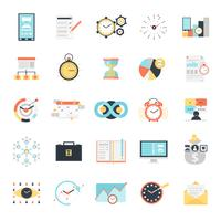 Conjunto de ícones de gerenciamento de tempo vetor