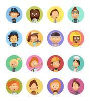 Conjunto de Avatares de desenhos animados de profissão de pessoas