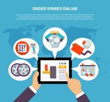 Ordem Spares Online Design Concept vetor