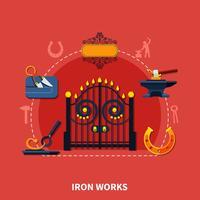 Fundo de obras de ferro ferreiro vetor