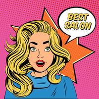 Cartaz da propaganda do salão de beleza do penteado vetor
