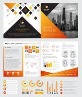 Design de Brochura da Empresa vetor
