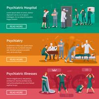 Conjunto de Banners de doenças psiquiátricas vetor