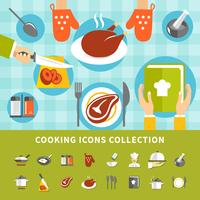 Conjunto de elementos de cozinha vetor