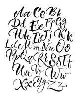 Letras de letras maiúsculas e minúsculas preto rabiscando vetor
