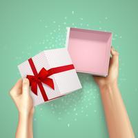 Composição do pacote pequeno presente vetor