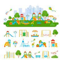 Composição do construtor do recreio das crianças