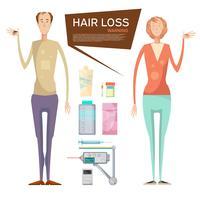 Conceito de drogas de perda de cabelo vetor