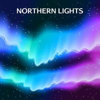 Fundo estrelado da aurora boreal