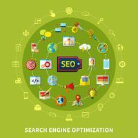 Composição redonda do Search Engine vetor