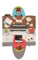 Conceito de Design de vista superior de reunião de negócios