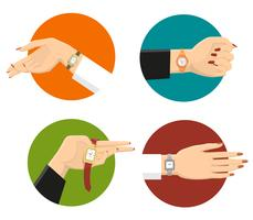 Conceito de design de relógios de pulso de mulheres
