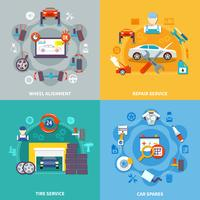 conceito de design auto serviço 2x2 vetor