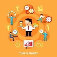 Tempo é Dinheiro Composição vetor