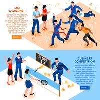 Conjunto de Banner Horizontal de negócios de concorrência