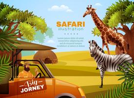 Cartaz colorido Safari vetor