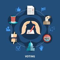 Conceito de campanha de eleições vetor