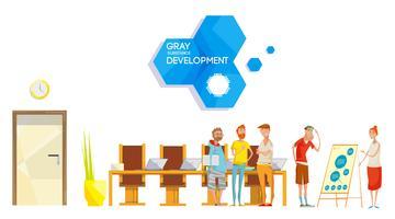 Composição da reunião de desenvolvimento de software