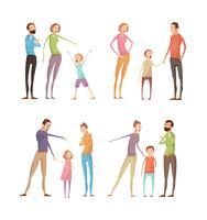 Pais abusando de composições infantis vetor