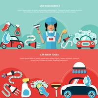 Banners de ferramentas de lavagem de carro
