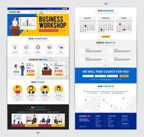 Treinamento de negócios na página da Web