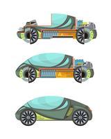 conjunto de carros electro