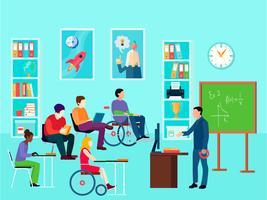 Composição de Educação para Pessoas com Deficiência vetor