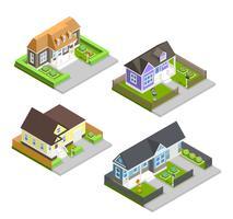 Composição de casas de cidade vetor