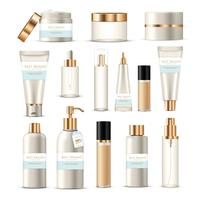Conjunto de tubos de empacotamento cosmético