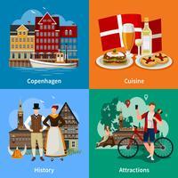 Conceito de estilo plano Dinamarca