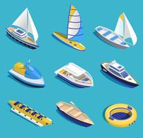 Conjunto de atividades marítimas vetor