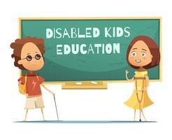 Educação De Crianças Deficientes Ilustração vetor