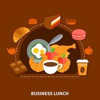 Poster do menu do almoço de negócio do fast food