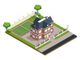 Composição da Casa do Subúrbio vetor