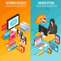 Banners de hackers na Internet vetor