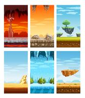 Conjunto de desenhos animados de elementos coloridos de jogos de computador