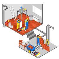 Composição de reparos interiores vetor