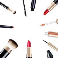 Conjunto de itens de maquiagem vetor