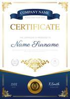 Design elegante de certificado vetor