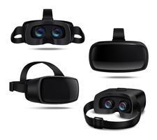 Fone de ouvido VR realista vetor