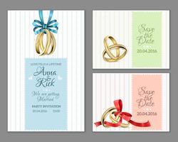 Celebre Cartões de Casamento com Convite vetor
