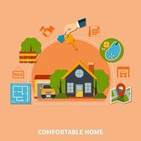 Conceito imobiliário vetor