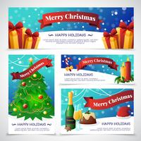 Banners de cartões de festa de Natal