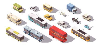 Conjunto isométrico de transporte vetor