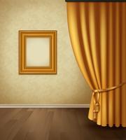 Interior de cortina clássica