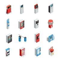 Conjunto de ícones de máquinas de venda automática vetor