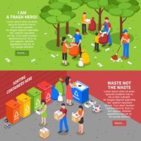 Conjunto de Banners de Classificação de Lixo vetor