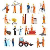 Conjunto de construtor de construção de reparos vetor